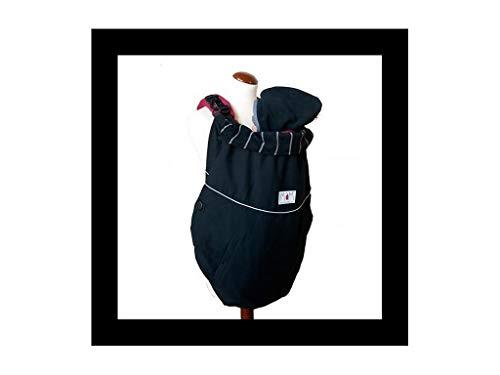 Manduca Deluxe FLeX Couverture pour porte-bébés Motif avec rayures grises Couleur noire