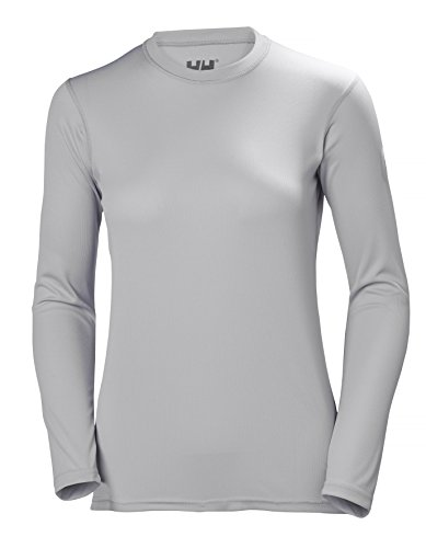 Helly Hansen HH Tech Crew Camiseta Deportiva Manga Larga, Mujer, Light Grey, S