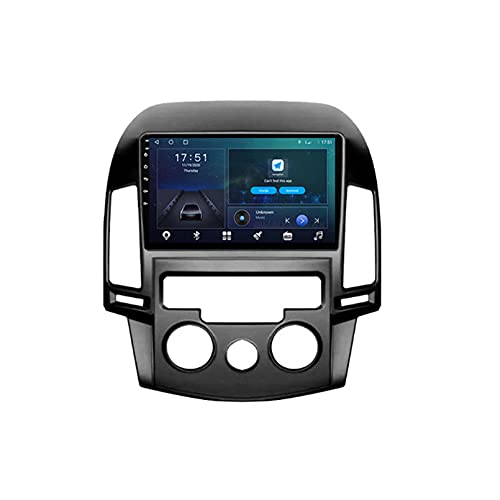 GOHHK Android 10.0 Coche Radio Video Player para Hyundai I30 2006-2011 Auto GPS Estéreo Navegación Dsp OBD Carplay DVD(Size:Opción Beight-Core,Color:WiFi:4GB+64GB)