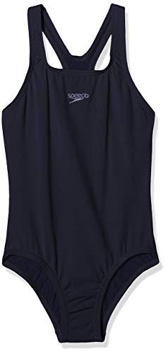 Speedo Essential Endurance+ Medalist Badeanzug Mädchen, Badeanzug Kinder, True Navy, Größe 178