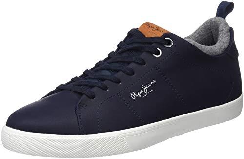 Pepe Jeans London Marton Basic, Zapatillas Hombre, Navy 595, 43 EU