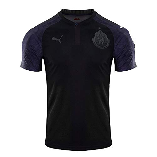 PUMA Licenced Soccer Apparel, Black-Peacoat, M