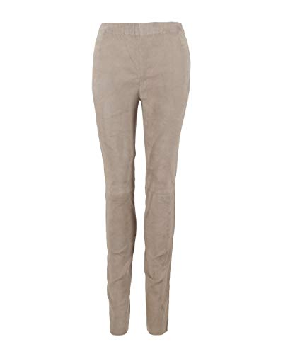 Maze Damen Lederhose Mit Stretch Brigetto XL Taupe