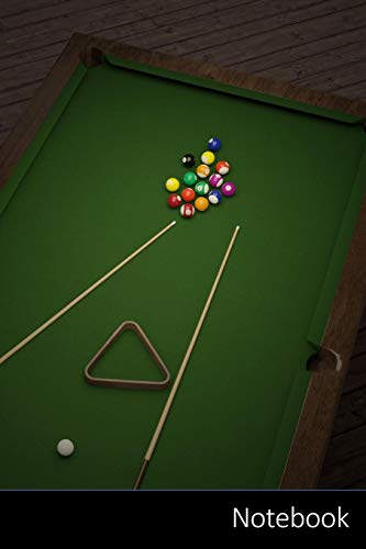 Notebook: Billiards, Balls, Table, Cloth Sports Themed Notebook / Journal / Diary / Composition book / Daily Planner / Sketchbook - 6 x 9 inches (15,24 x 22,86 cm), 150 pages, glossy finish.