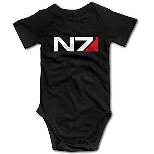 WJSDOWOWEN Mass Effect Baby Babys Baby's Onesies Unisex Baby Bodysuit Soft Oneies badysiuit Black