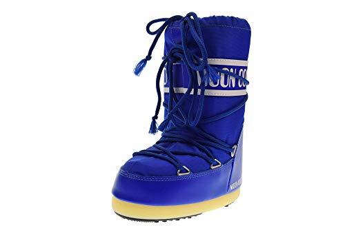Moon-boot Nylon, Chaussures Premiers Pas pour bébé Mixte Enfant,Bleu (Blu Elettrico 075),23-26 EU