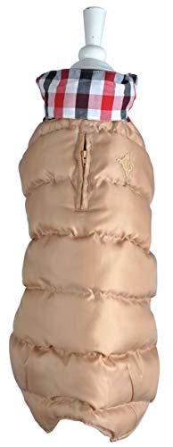 Wouapy - Abrigo de WAP Beige, Talla 48, diseño Elegante Que Protege a su Perro de Las Intemperies para Perros