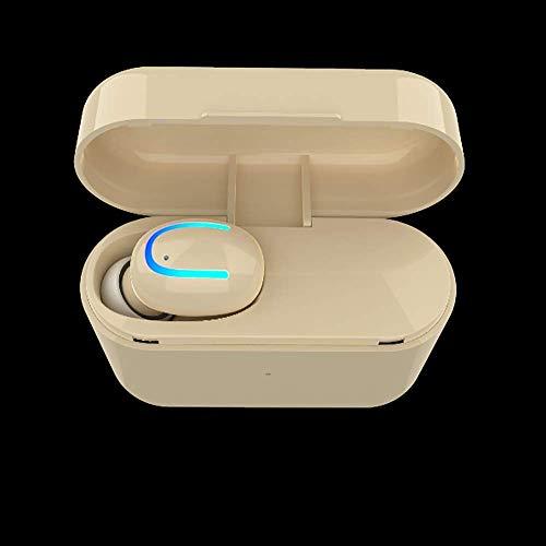 Q26 Bluetooth Headset Fan Ultra Small unsichtbare drahtlose Sport-laufende Earbuds einzelnes Ohr mit Kabine Angreifen, Messing FEOPW