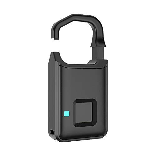 ZXYSHOP Fingerabdruck-Verschluss Intelligente Keyless USB Charge Wasserdicht Anti-Diebstahl-Sicherheit Tresor Padlock Tür Gepäck-Kasten-Verschluss-Beutel-Verschluss