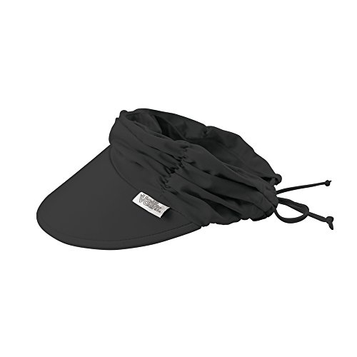 UV SKINZ UPF 50+ Women's Swim Visor - Black