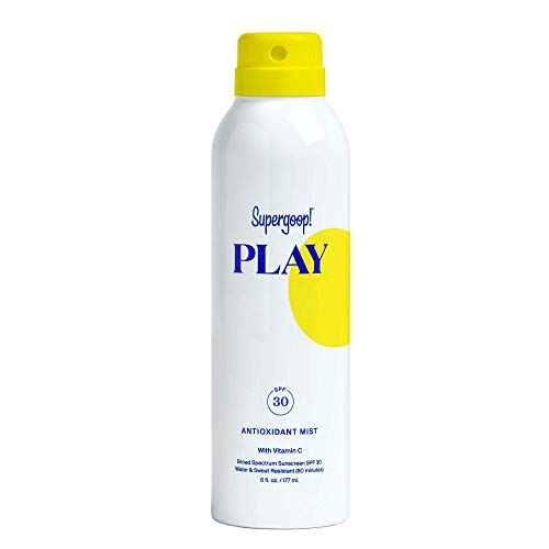 Supergoop! PLAY SPF 30 Antioxidant-Infused Body Mist w/ Vitamin C, 6 fl oz - Reef-Safe, Broad Spectrum Sunscreen Spray - Body Sunscreen for Sensitive Skin - Clean ingredients - Great for Active Days