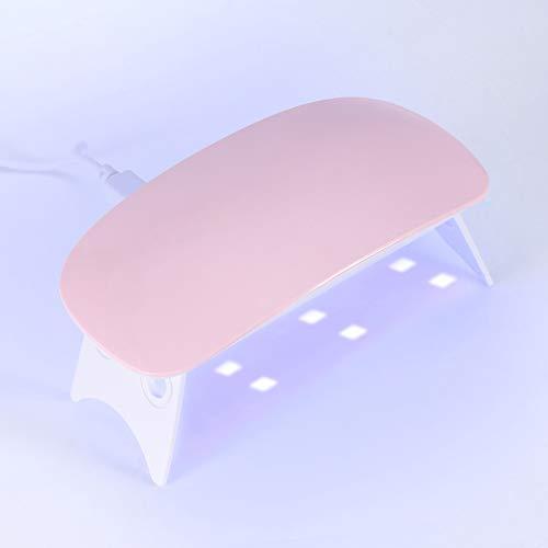 Mini Nail Droger, 2 Kleuren SUN Mini Nail Droger 6W UV Gel Polish Genezen LED Lamp Draagbare of Gelgebaseerde Polishies Manicure Tool (Roze)