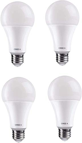 Cree Lighting A19-60W-B1-27K-E26-U4 LED Dimmable Lamp (4-Pack), 9 Watts, 2700K