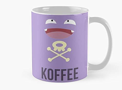 Lplpol Koffing Koffee - Taza de café y té (325 ml), diseño de taza de café y té