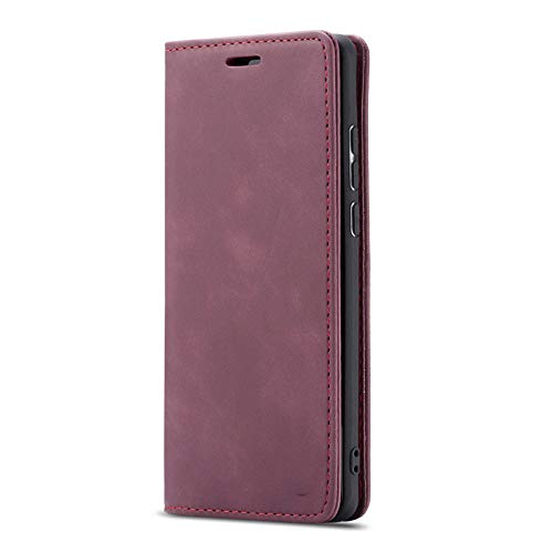 ZXMDP Estuche magnético de Lujo para teléfono con Tapa para iPhone SE2020 11 12Pro MAX 8 7 6 6s, Rojo Vino, iPhone XR