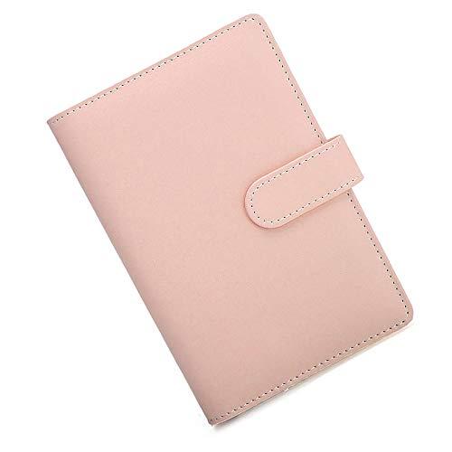 SUPERTOOL - Custodia per taccuino, in pelle sintetica, misura A5, 17,5 x 23 cm, rilegatura ad anelli, morbida e ricaricabile, per diario, diario di viaggio, regalo, colore: rosa