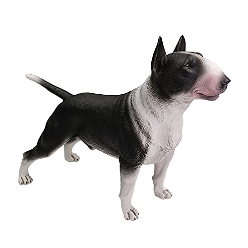 Zhushj'shop Pitbull Terrier Bulldog Dog Pet Dog Greyhound Simulación Animal Modelo Decoración Bully Bulldog Action Doll Regalo Conjunto de Juguetes ZHUSJJS