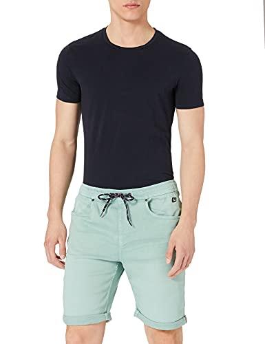 Blend Herren Demim Jogg Twister Fit Jeans-Shorts, 155207_Aquifer, L