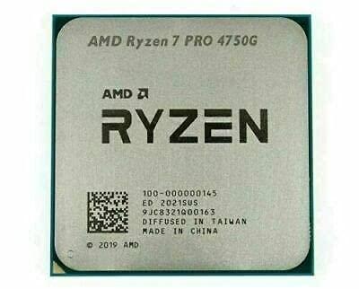 AMD Ryzen 7 PRO 4750G Processor 7nm 3.6Ghz 8 cores 16 Threads Processor only (Tray)