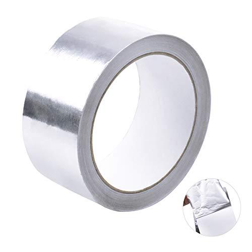 20 m Aluminiumband, Selbstklebend Aluminium Folien Klebeband Aluband, Silber Folienband Hitzeschutzband Dichtband für Reparatur, Wärmeisolierung, Pfropfen, Dichten, 45 mm