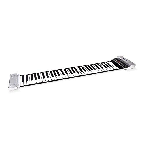 Schubert Roll-up Piano Souple 61 Touches avec Sac de Transport (Fonction Enregistrement stéréo,...