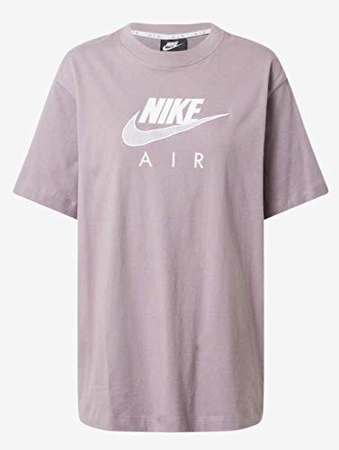 NIKE Camiseta para Mujer Air BF Top Purple Smoke/White M