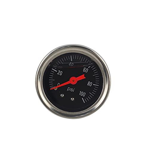 TANGIST Coche Combustible Medidor de presión Líquido 0-100 PSI 0-160PSI Medidor de presión de aceite 1/8'NPT Negro/blanco Envío gratis (Color : Black)