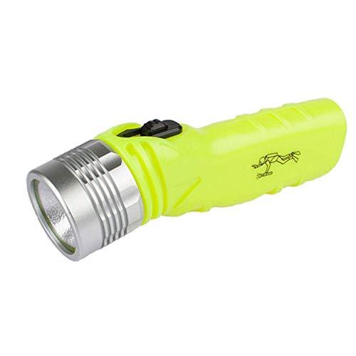Preisvergleich Produktbild ZUZU Tauchen Taschenlampe Hohe Helligkeit wasserdicht LED-Taschenlampe Magnetic Control Schalter Wasserdicht 100M Wasser Bright Yellow