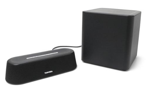 Toshiba PA5075U-1SPA Mini 3D Sound Bar with Subwoofer (Black)