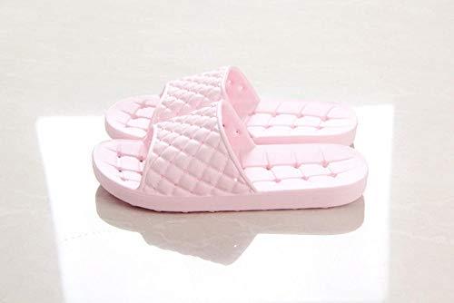 ypyrhh Sandalias con Punta Abierta Mujer,Zapatillas de baño con Fugas,Sandalias para Parejas en casa-Pink_36,Verano de Las Mujeres Casual Chanclas