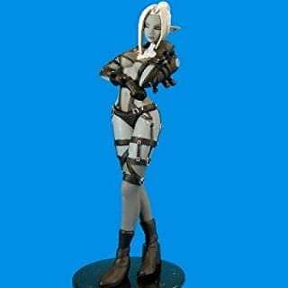 Lineage II Gashapon Miniature Figure - Black Outfit Dark Elf Gashaon