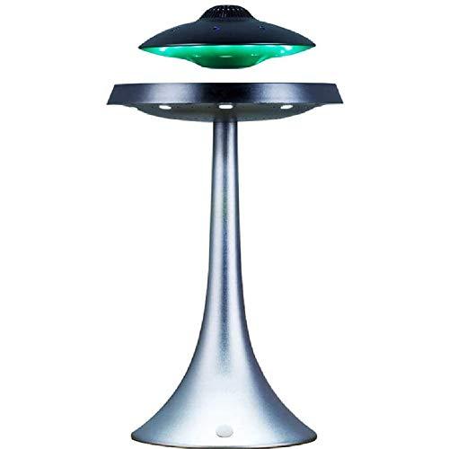 Qazxsw Geeignete Mikrofon Magnetschwebebahn UFO Bluetooth Ton LED-Blitz drahtlose Schwimm Wiederaufladbare Maglev Lautsprecher Subwoofer, Geschenk