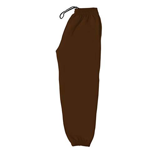 Unisex, Jungen, Mädchen, Damen, Herren, Erwachsene, Kinder, elastische Taille, Kordel, zwei Taschen, einfarbig, Fleece-Jogginghose, 270 g/m², 50,8 cm - XXL, elf Farben Gr. 13 Jahre, braun