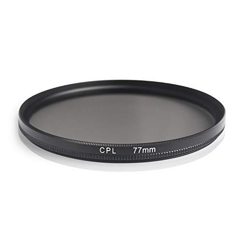 Ares Foto® CPL Zirkular-Polfilter Polarisationsfilter, optisches Glas & Aluminium. Für Canon Sony Nikon Fujifilm Pentax Tamron Sigma Leica Olympus Panasonic (77mm)