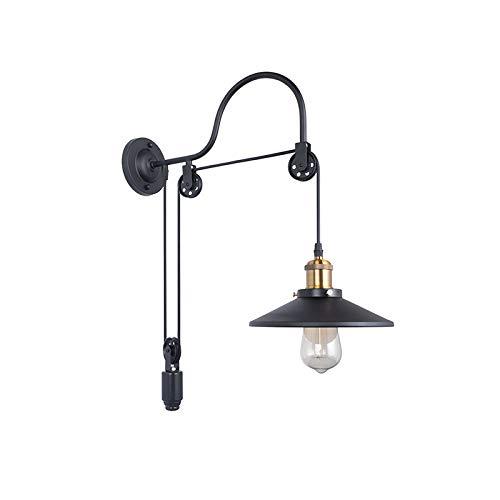 Wandlampe Industrie Wind Retro Riemenscheibe hängen Draht Schmiedeeisen Wandlampe