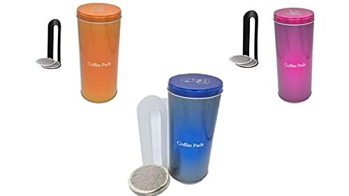 3x Kaffeepaddosen, Dekodose, Aufbewahrungsbehälter für Kaffeepads