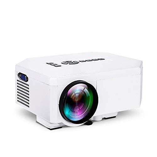 Beamer, mini Pico projector, houder voor mobiele stroomvoorziening, ondersteunt kaart VGA / HDMI / AV/SD