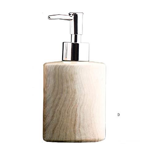 ZWMG Dispensador de jabón Dispensador de jabón para encimera, baño, Cocina u Oficina, dispensador de jabón líquido con Cabeza de Acero Inoxidable Cabeza Hermosa y práctica (cerámica) (Color : D)