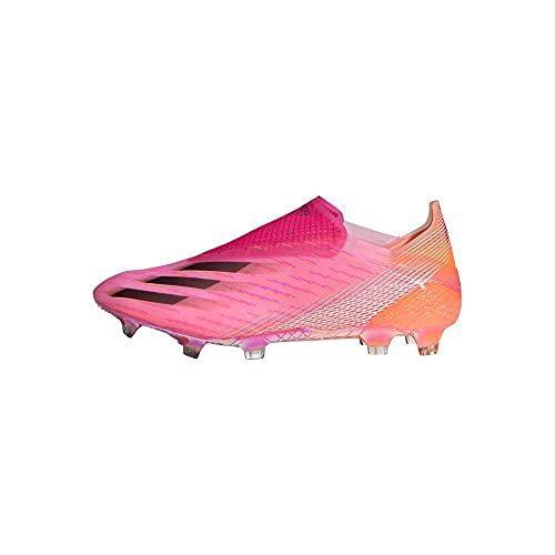 adidas X Ghosted+ FG, Bota de fútbol, Shock Pink-Black-Screaming Orange, Talla 8 UK (42 EU)