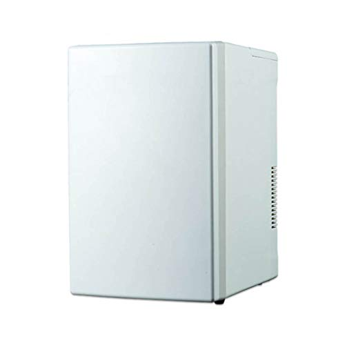 Minikühlschrank Mini-Kühlschrank Auto Kühlschrank Vertikale Gefrierschrank for Gewerbe Kühllagerschrank Energiesparende Mini Single Door Kühlschrank (Color : Weiß, Size : 34 * 26 * 41cm)