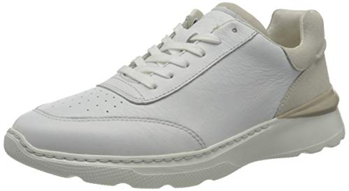 Clarks Sprintlitelace, Zapatillas Hombre, Color Blanco, 41.5 EU