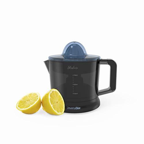 UNIVERSALBLUE Exprimidor de Naranjas Eléctrico de Vaso | 2 Filtros para Zumo sin Pulpa | Recogecable | 40W de Potencia