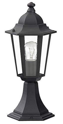 Luminaire Petit Lampadaire Extérieur Lanterne De Jardin Classique Lampe Sur Pied IP43 Noir 2/2/802