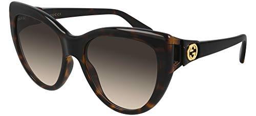 Gafas de Sol Gucci GG0877S Havana/Brown Shaded 56/18/130 mujer