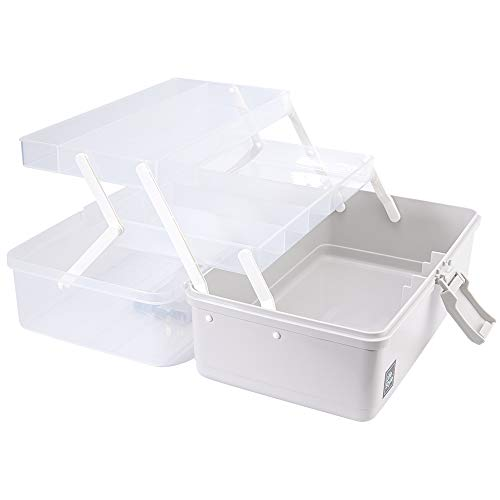 U. Uberlux Koffer transparent und grau, Hausapotheke, Make up Koffer, Werkzeugkoffer aus Kunststoff