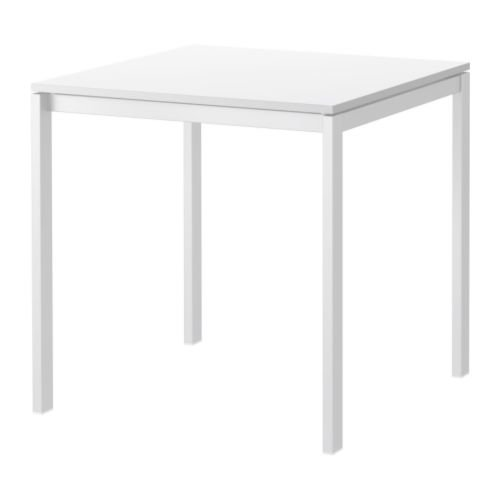 IKEA MELLTORP - Mesa, blanco - 75x75 cm