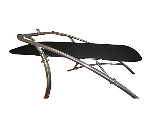 """Krypt Flat Cargo Wakeboard Tower Boat Bimini Top, Over or Under Mounted, 62"""" or 53"""" Rigid Width, Legs Adjustable 20"""", Clamp Sizes 1.5"""" - 3""""- Black or Navy Blue"""