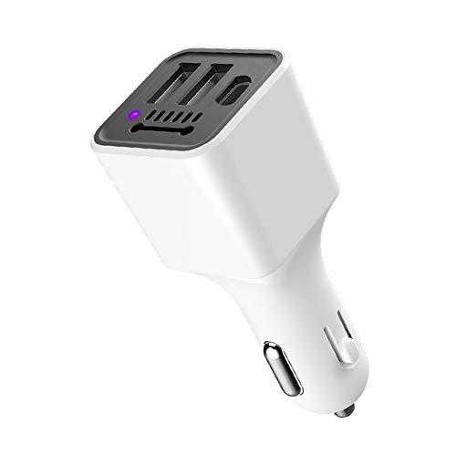SSZZ Dubbele USB-autotelefoonlader, luchtreiniger, auto-reiniger, sigarettenaansteker geschikt voor mobiele telefoon, tablet, recorder-MP3-camera rijdt