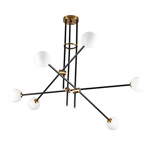K.LSX Moderne Kroonluchters Antiek Industriële Sputnik Kunstmatige Satelliet Metalen Plafondlampen voor Woonkamer Slaapkamers Café Bar [Energie Klasse A+]