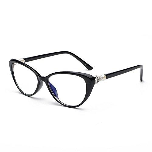 VEVESMUNDO Gafas de Lectura Mujer Hombre Vintage Ojo de Gato Grande Flores Leer Vista Graduadas Presbicia 1.0 1.5 2.0 2.5 3.0 3.5 4.0 Negro Rojo Azul Rosa Carey (1.5, Negro)